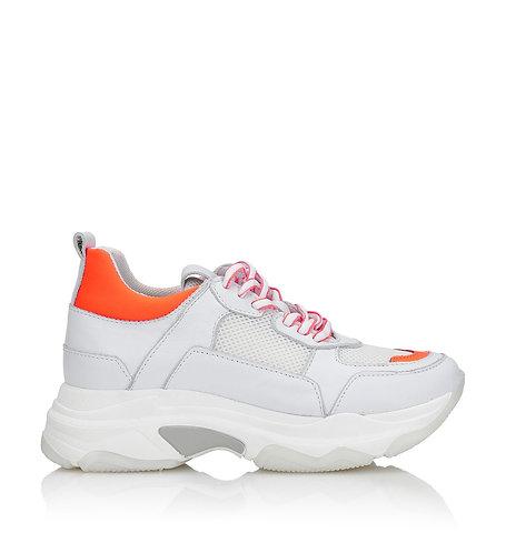 "Shoe Biz Copenhagen Sneaker ""Neon Orange"""