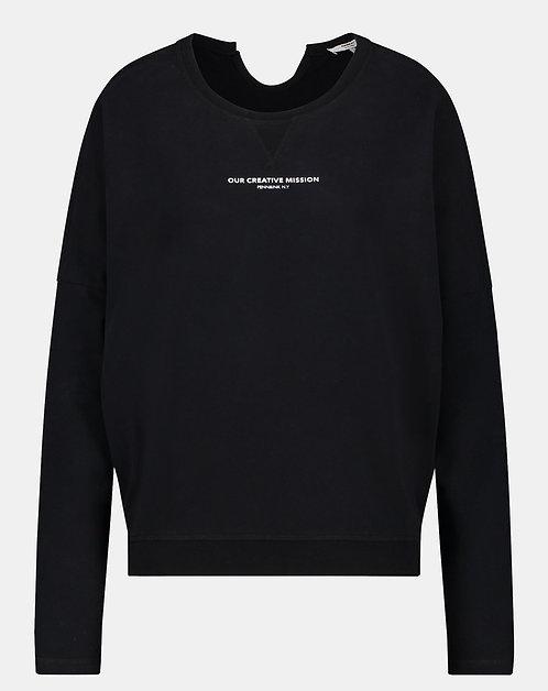 Penn & Ink. Sweater (S21F871) Schwarz - Weiß