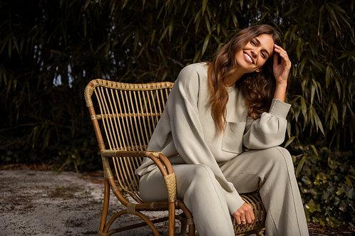Yaya Sweater mit Tasche Eucalyptus