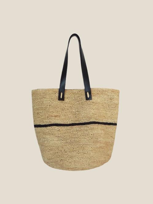 City-Boho Bag, Black One Stripe