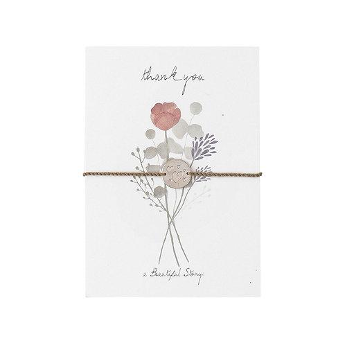 Schmuck Postkarte, Blumen