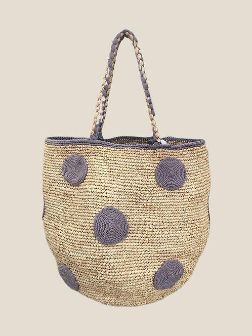 Boho Bag L, Grey Dot