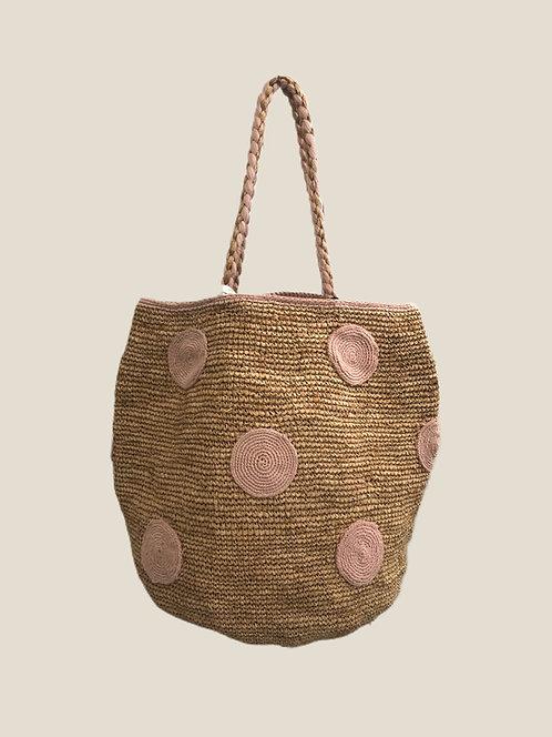 Boho Bag L, Rose Dot