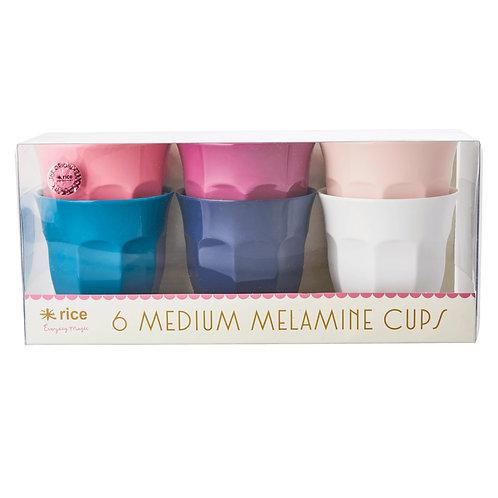 Melaminbecher 'Simply Yes' Medium, 6er Pack