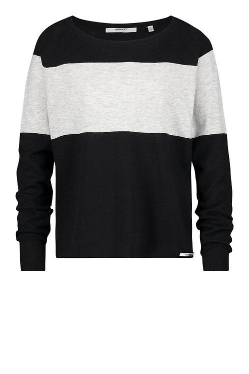 Pullover 'Stripe', Asphalt Grey Mélange