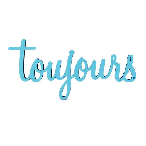 NoGallery 'Toujours' Schriftzug, Jeansblau