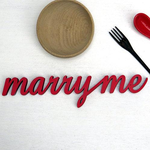 NoGallery 'Marry Me' Schriftzug, Orange