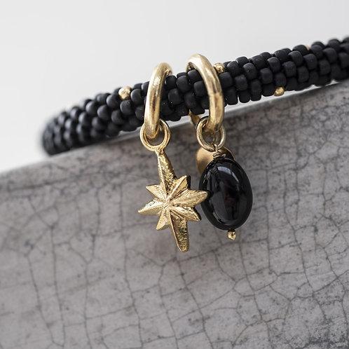 'Jacky' Multi Color Schwarzer Onyx Goldfarbenes Armband