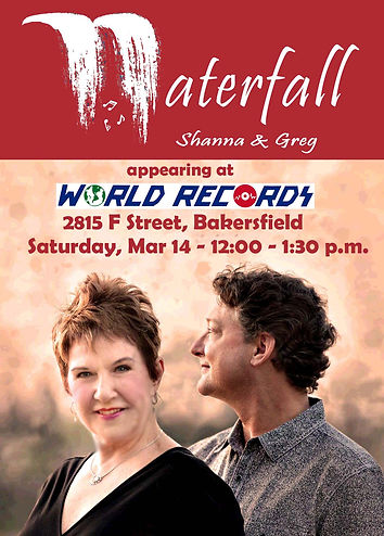 Waterfall  flyer for World Records Mar 1