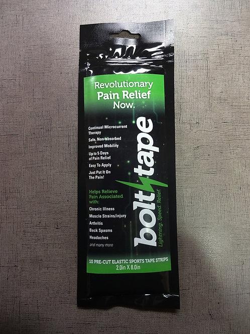 "Bolt Tape 10 Pre-Cut Elastic Sports Tape Strip 2.0""X8.0"""