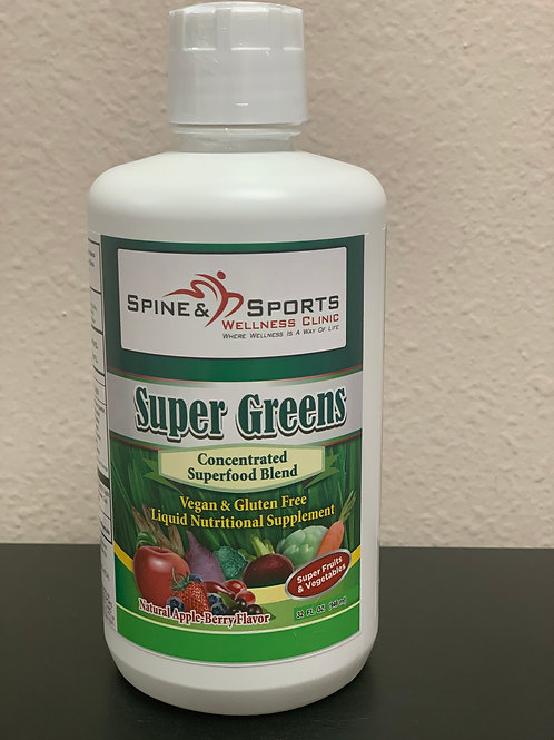 SPINE AND SPORTS WELLNESS SUPER GREENS 32OZ