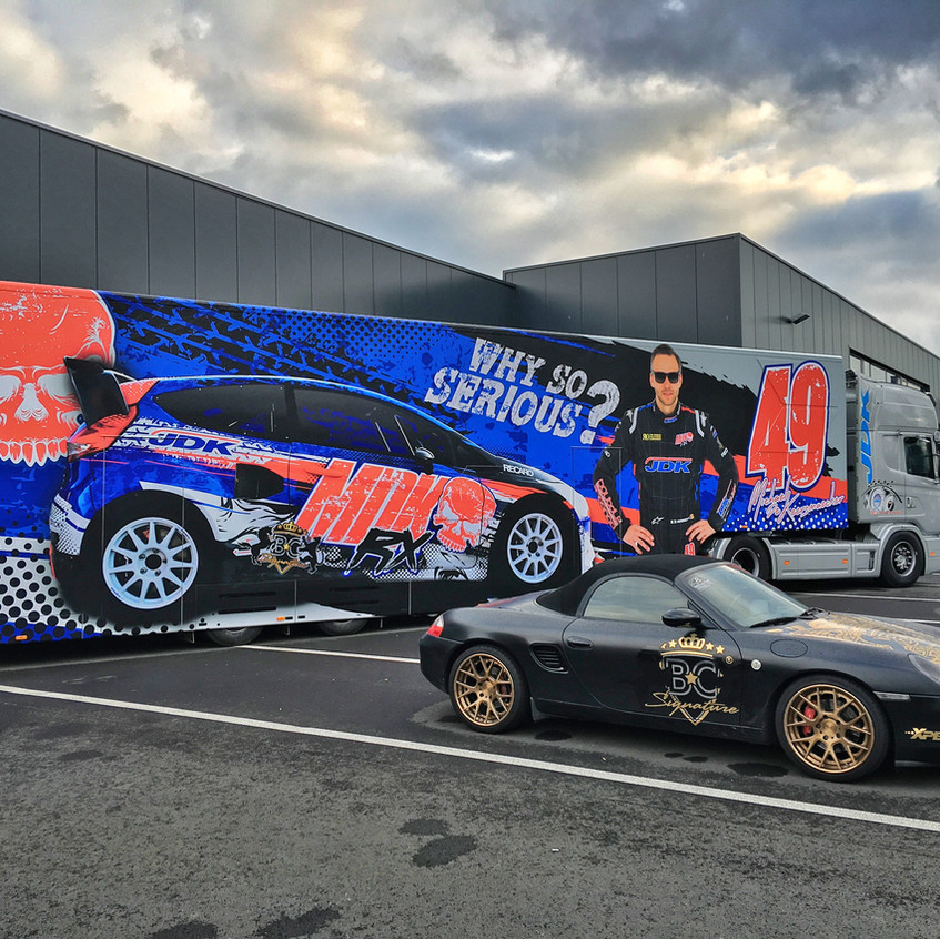 MDK RX Race Trailer wrap
