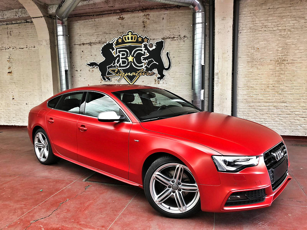 Audi A5 Satin Smoldering Red