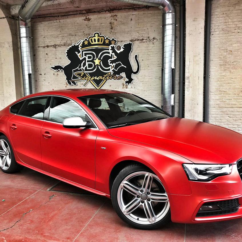 Audi A5 Carwrap Satin Smoldering Red