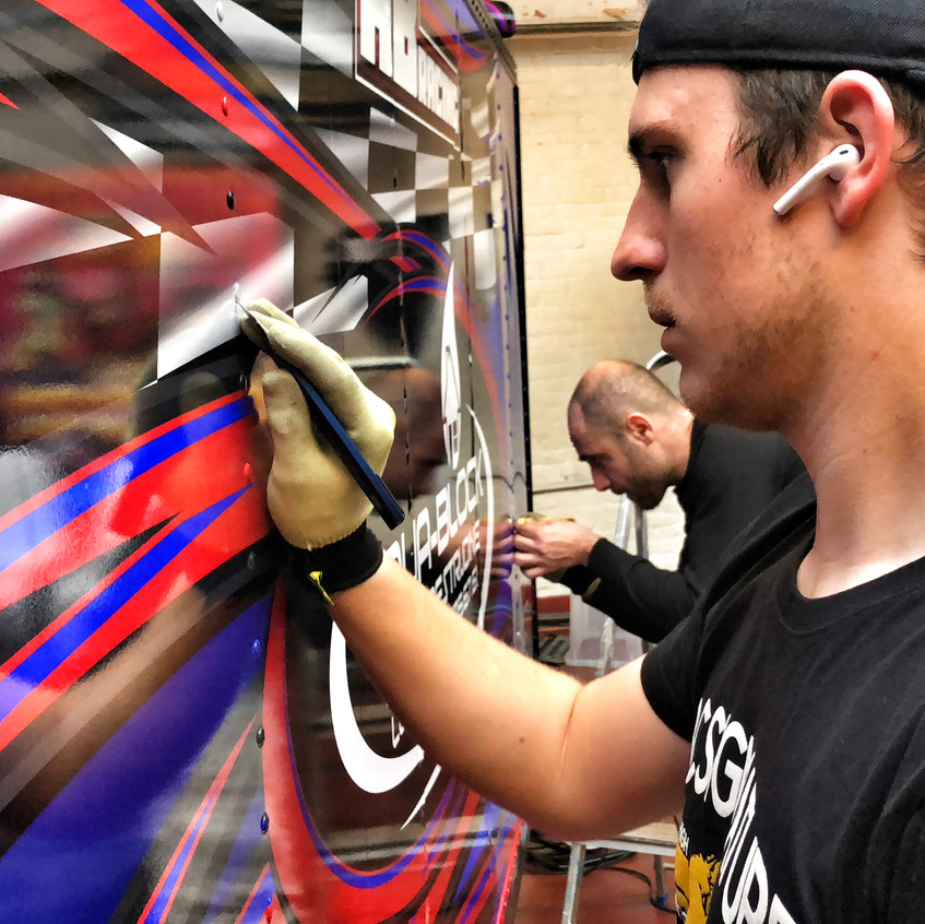ABRacing Karting Trailer wrap