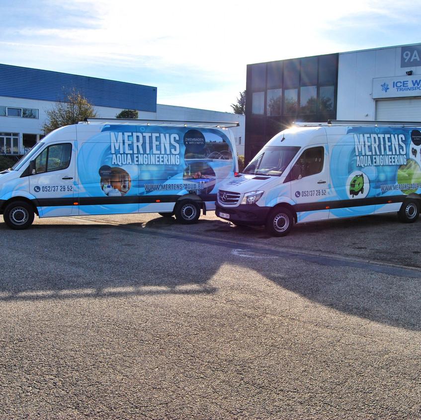 Mertens Aqua Mercedes Sprinter wrap
