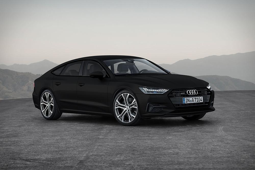 Audi A7 Sportback mat zwart carwrap