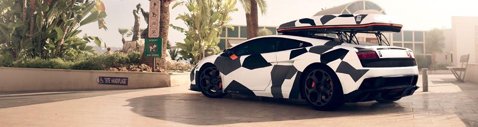Jon Olsson Lamborghini Gallardo Carwrap camo