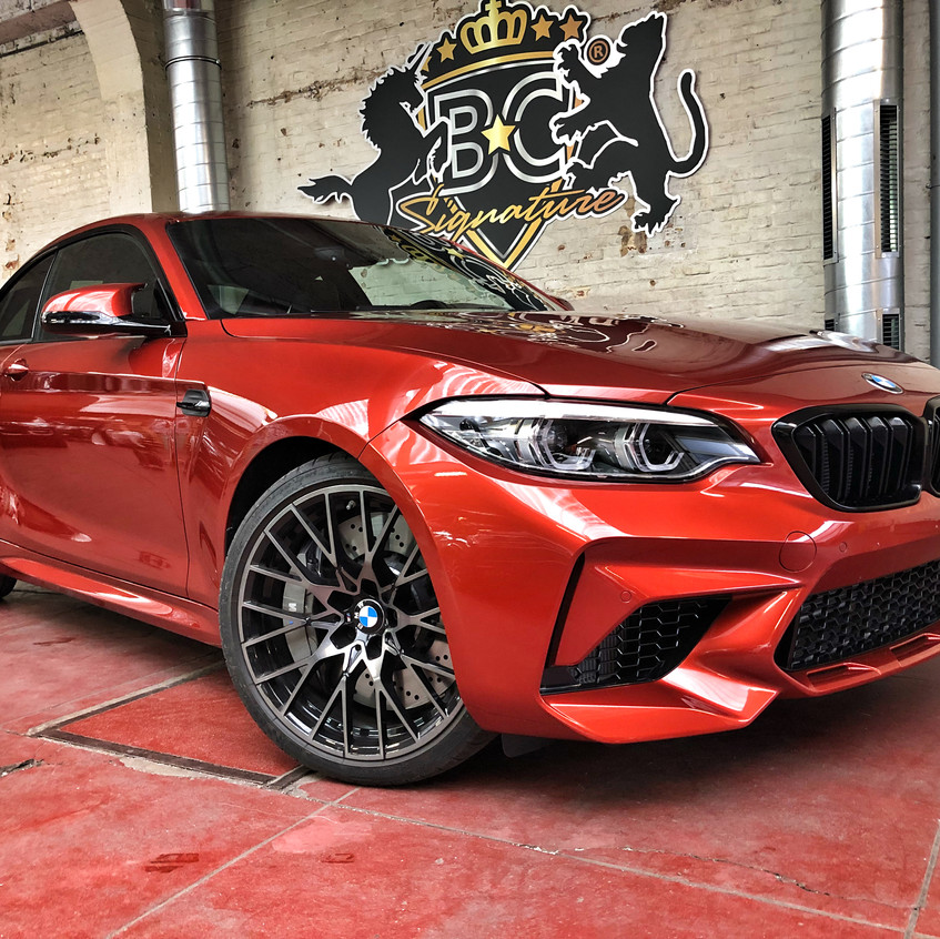 BMW M2 Competition Xpel wrap Sunset