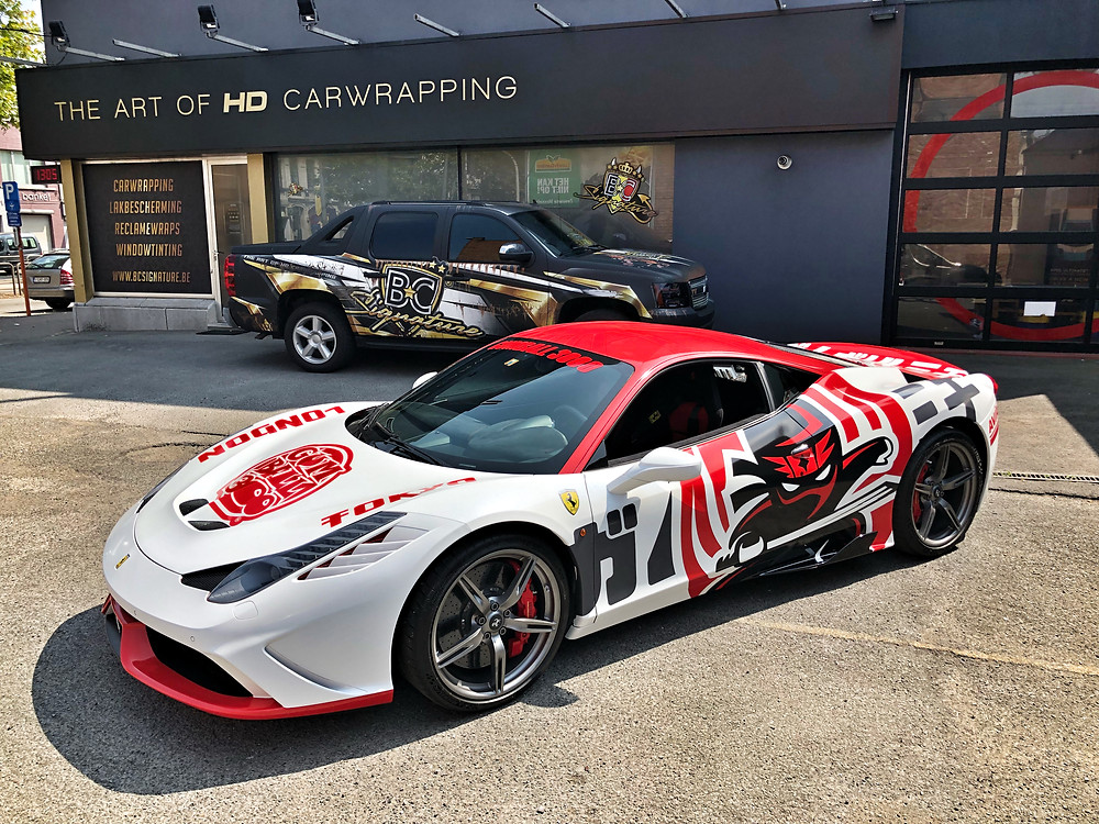 Ferrari 458 Speciale Gumball Carwrap