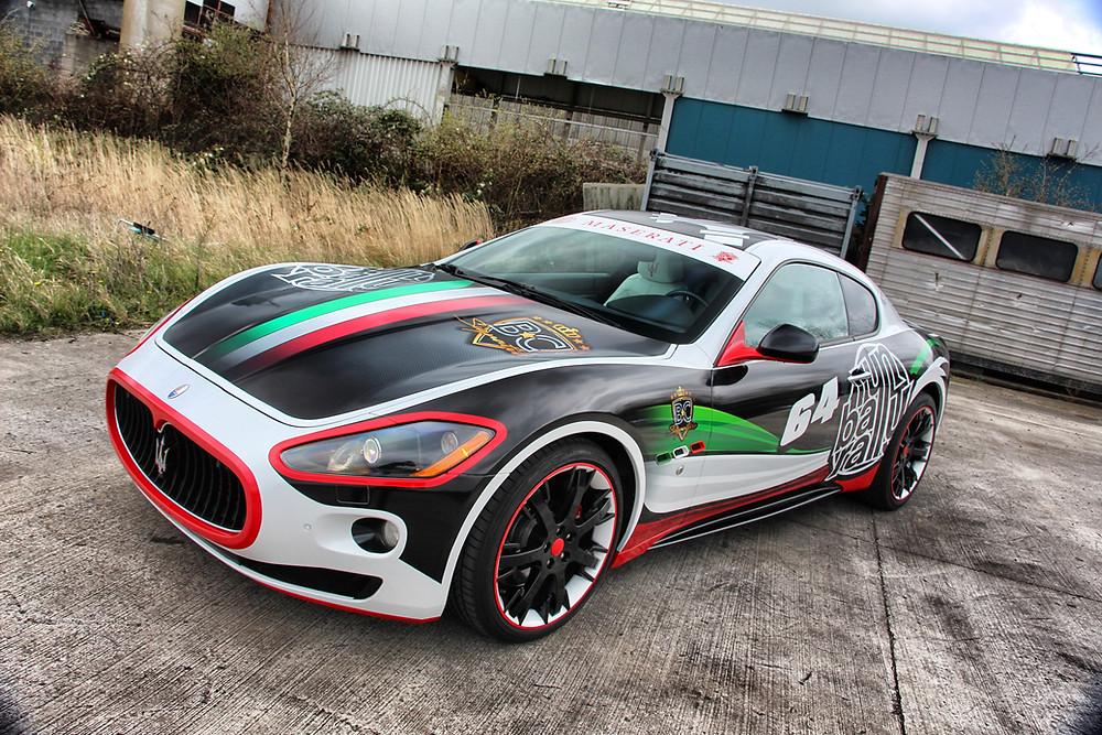 Maserati GT carwrap italia