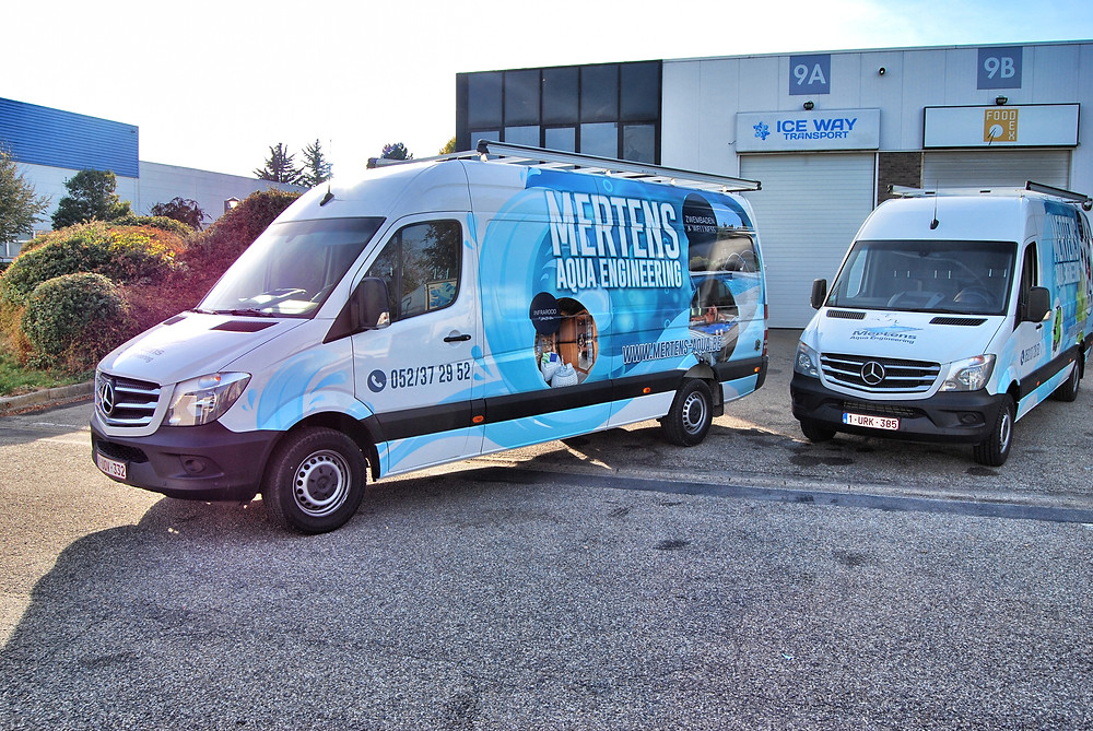 Mertens Aqua Engineering Mercedes Sprinter carwrap