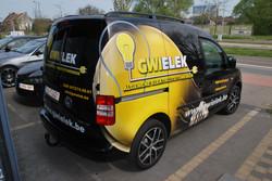 VW Caddy Carwrap GWIELEK