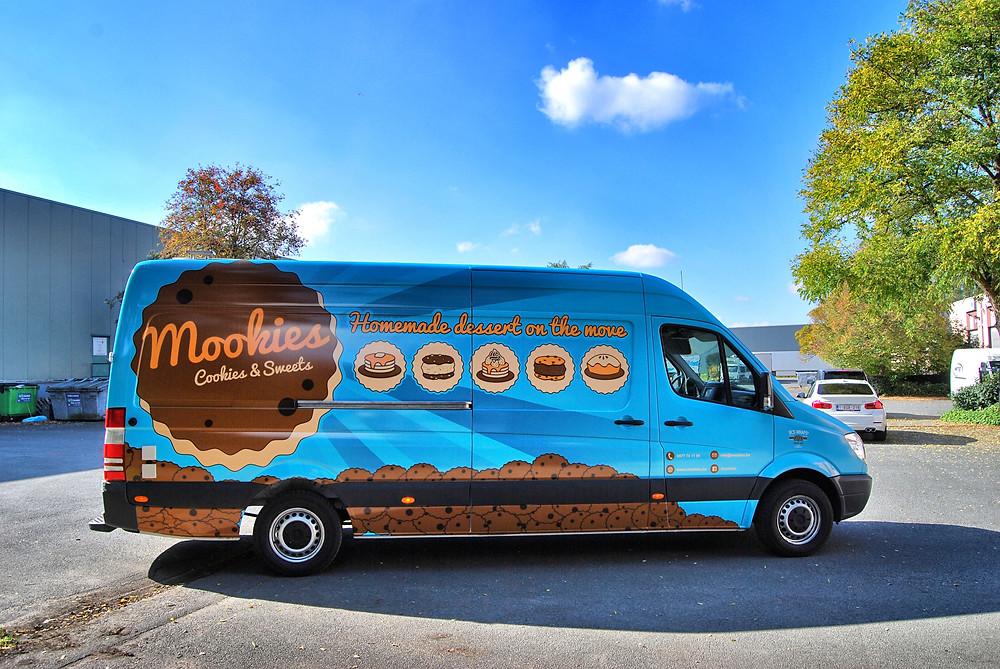 Reclamewrap Mookies Sprinter Foodtruck