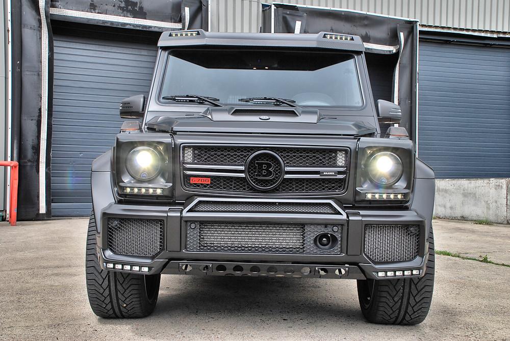 Mercedes G700 Widestar Satin Black Carwrap