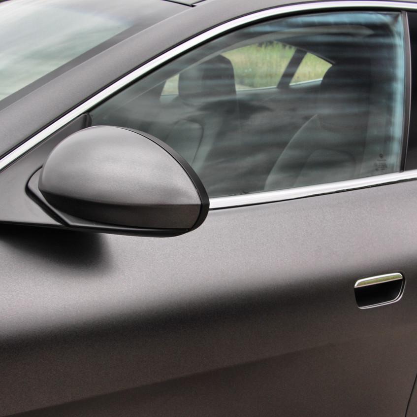 Fisker Karma Satin Dark Grey Carwrap