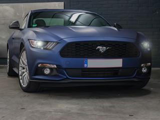 Ford Mustang Matte Blue Metallic