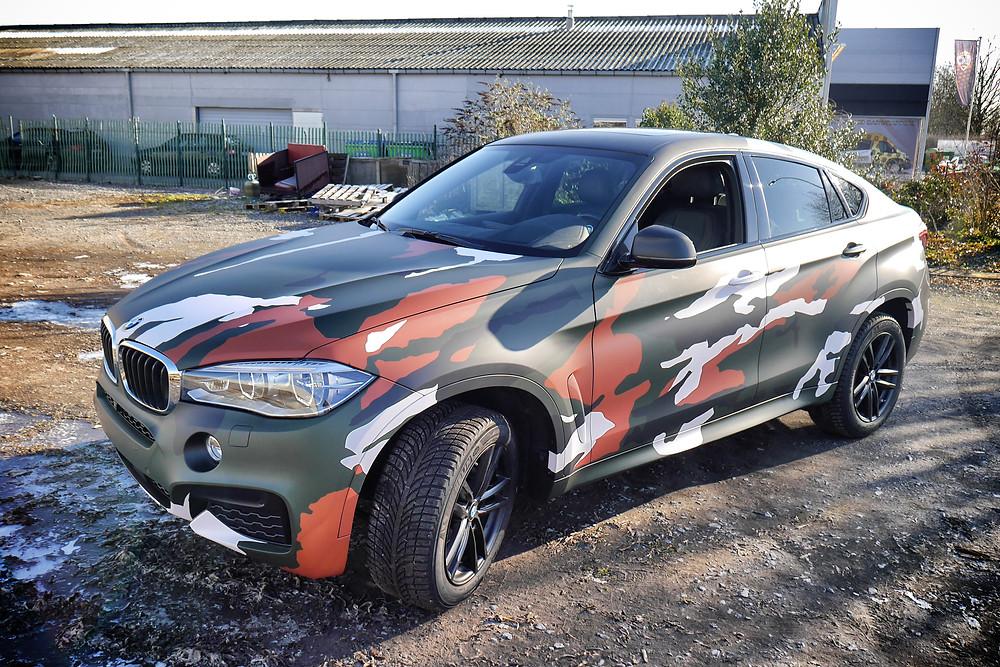 BMW X6 Camouflage wrap