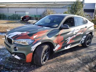 BMW X6 - Camo wrap