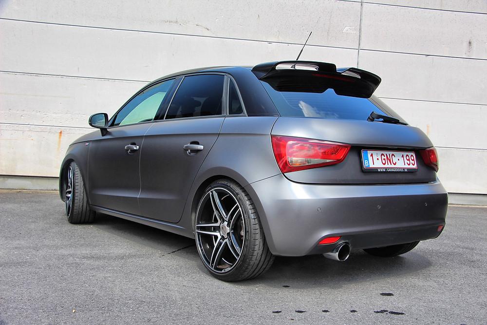 Audi A1 S-Line Carwrap Satin Dark Grey