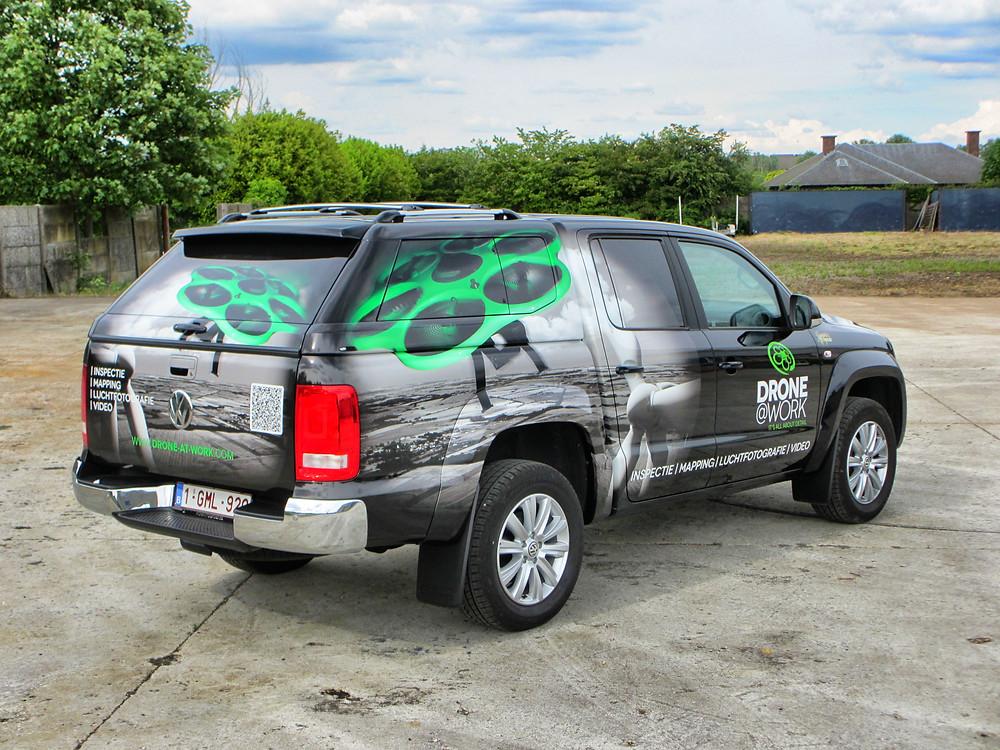 VW Amarok Carwrap Drone @ Work by BCSignature.be