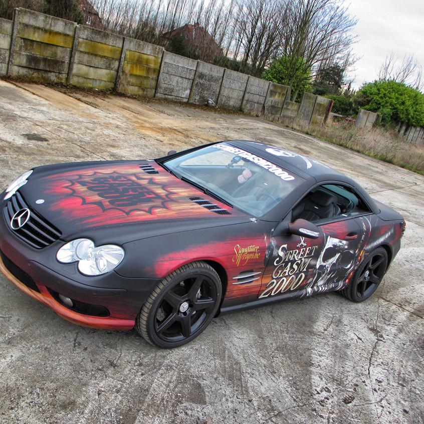 Mercedes SL AMG Streetgasm Carwrap