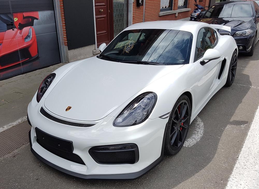 Porsche Cayman GT4 Paint Protection wrap
