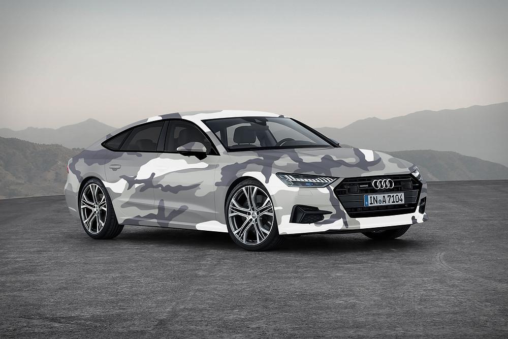 New Audi A7 Sportback 2017 camo Wrap