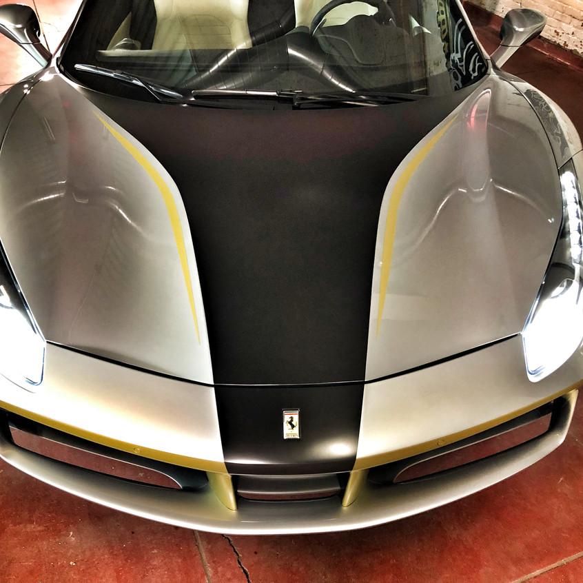 Ferrari 488 Dubai Car Wrap Emirates