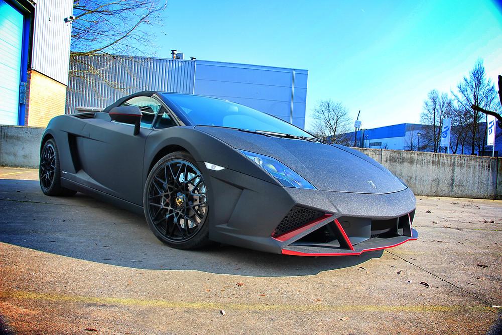 Diamond Black Lamborghini Gallardo Spider carwrap