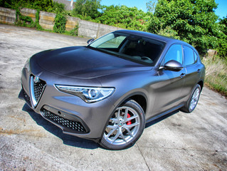 Alfa Romeo Stelvio Satin Dark Grey Wrap