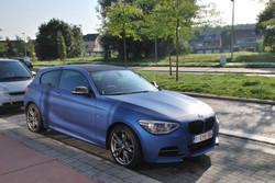 BMW 1 serie carwrap matte blue