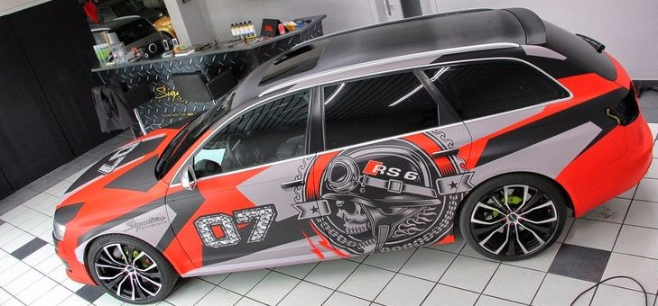 Audi RS Jon Olsson Skull wrap