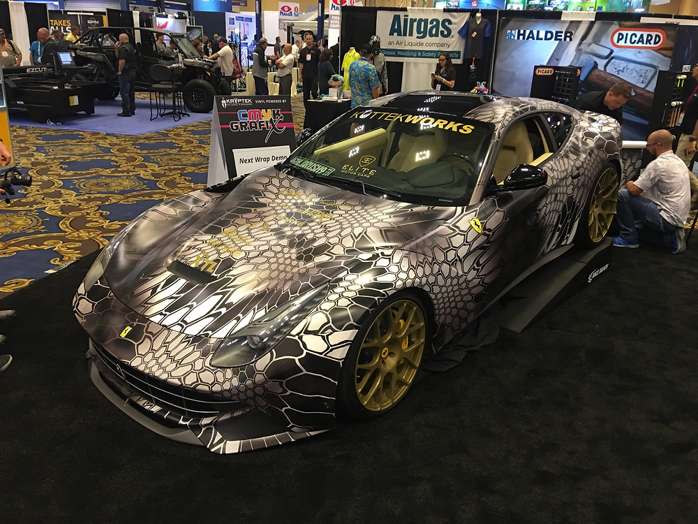 Kryptek Ferrari carwrap