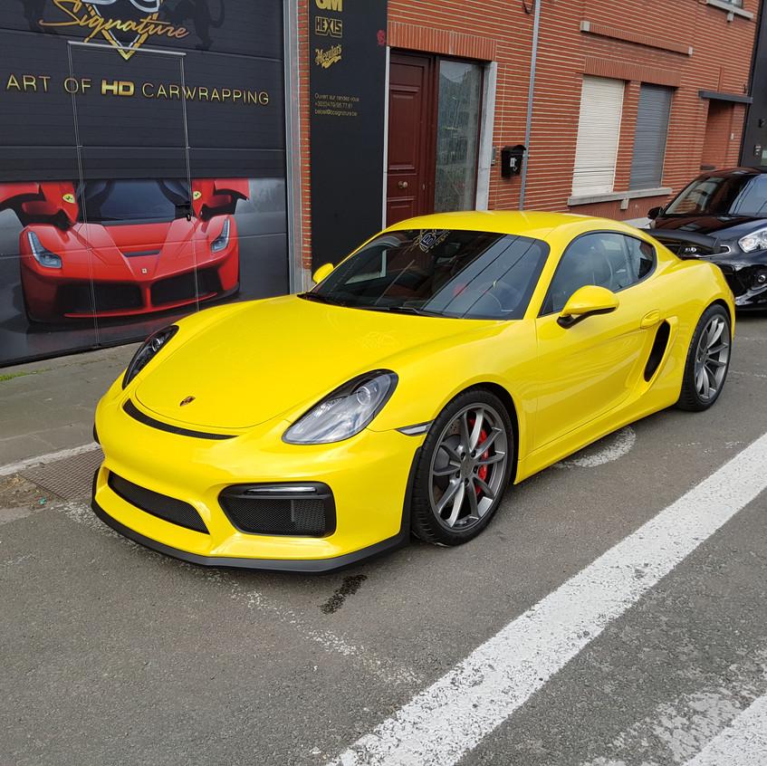 Porsche Cayman GT4 Paint Protection
