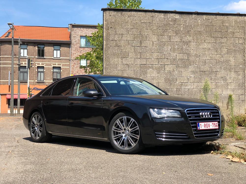 Audi A8 Gloss Black Metallic Carwrap