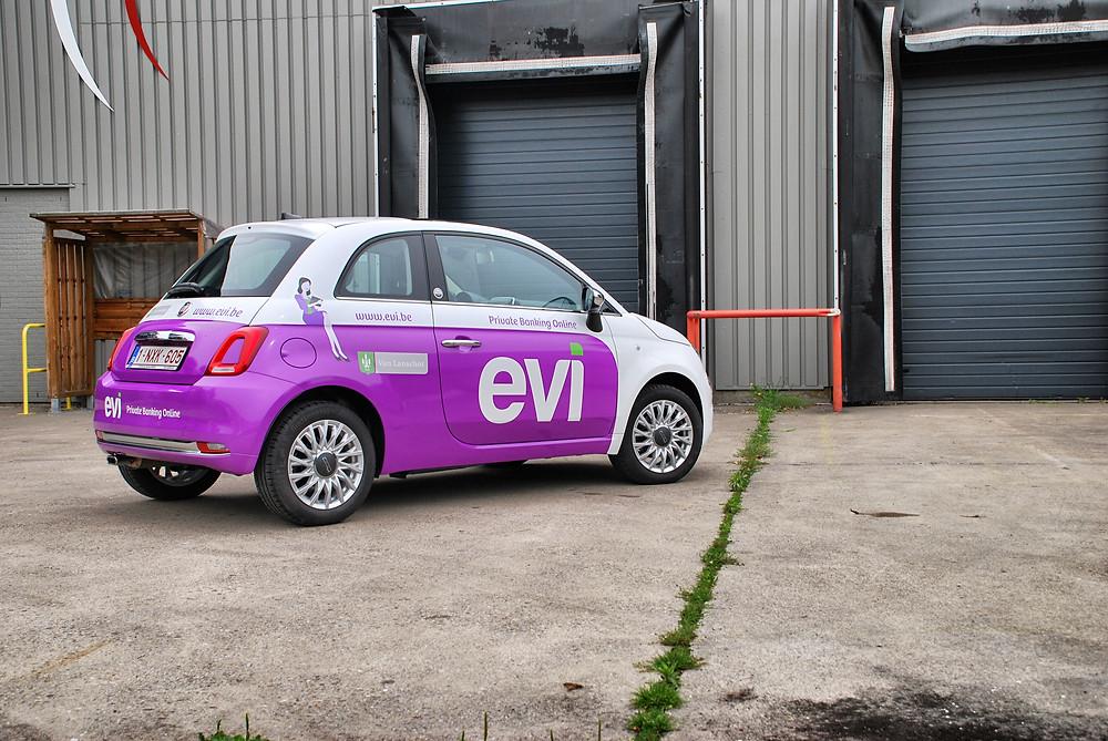 Fiat 500 Evi Carwrap