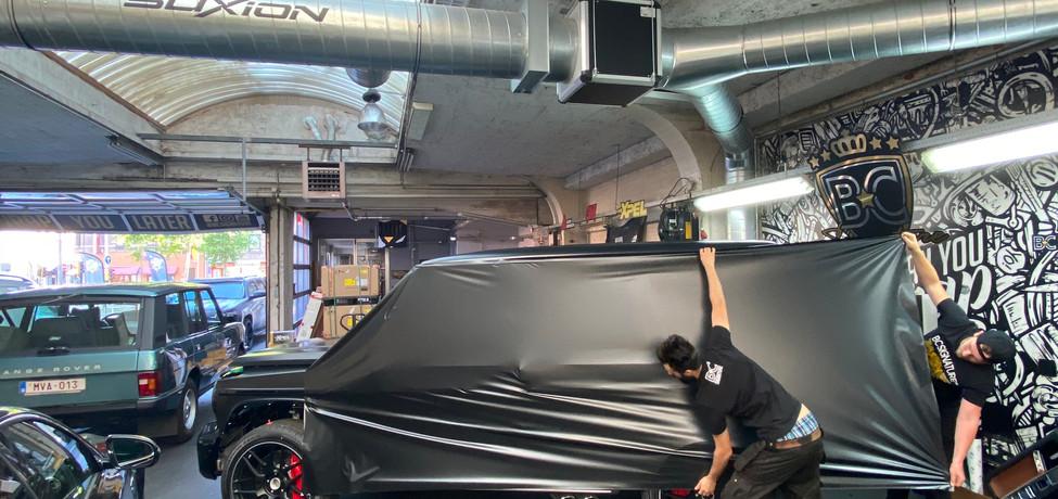 Mercedes G-Klasse Satin Black Wrap