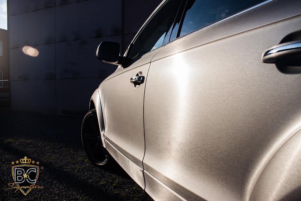 Audi Q7 Brushed Titanium carwrap