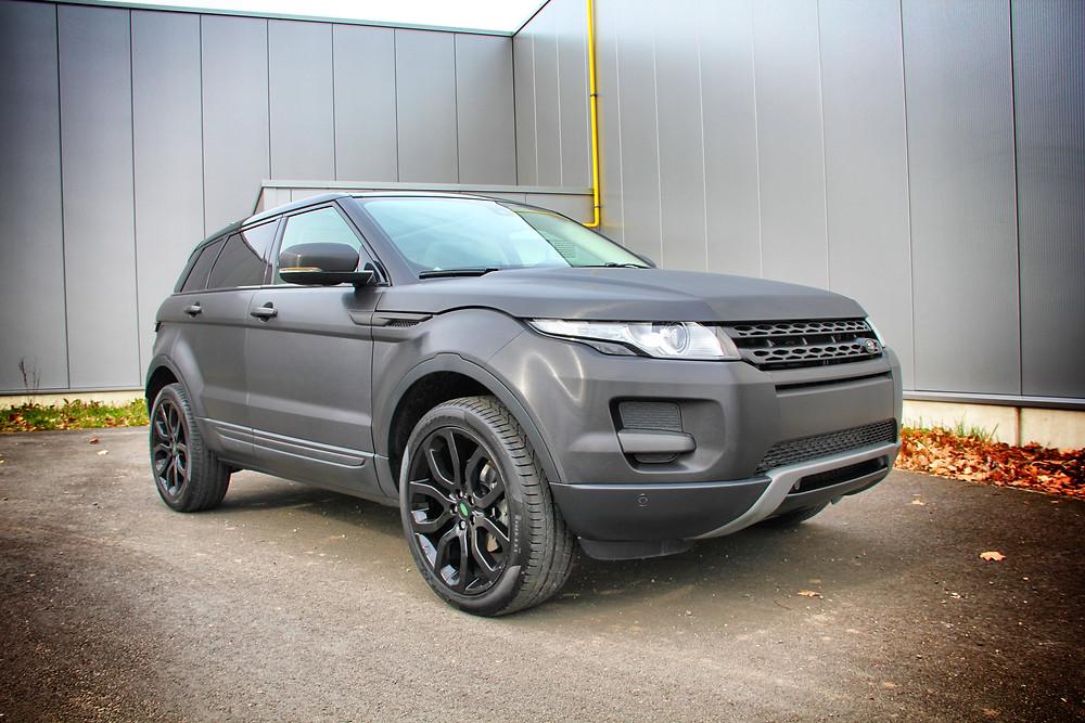 Range Rover Evoque Brushed Black Carwrap